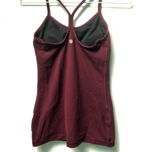 lululemon athletica Tops - Lululemon Power Y Tank Luon® in Maroon, Size 4